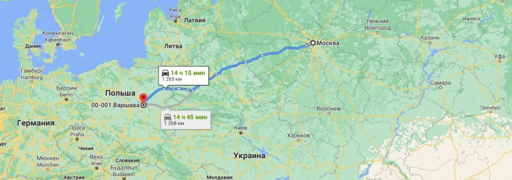 Грузоперевозки в Польшу из России