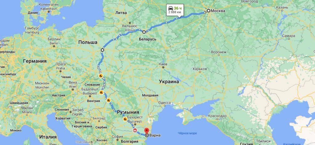 Грузоперевозки в Болгарию из России